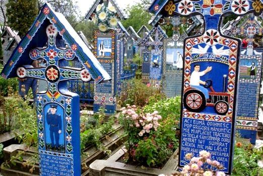 Alegre de Sapanta. Cementerio Rumania